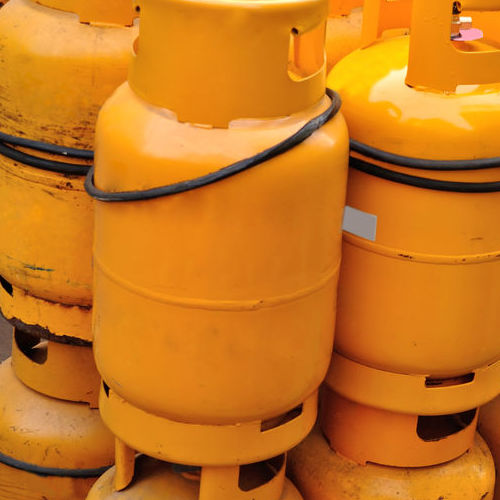 Stored Propane Tanks.