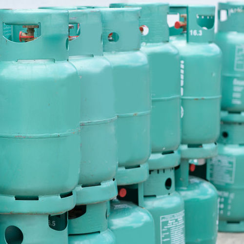 A Stack of Propane Canisters