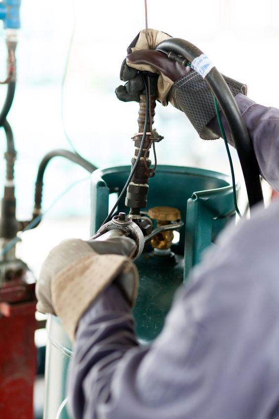 refilling underground propane tank